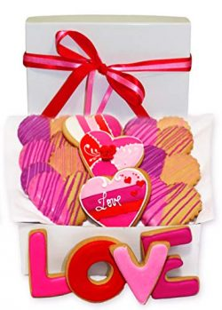 Valentine's Day Gift Basket 15 Romantic Love Heart Decorated Cookie Boy, Girl, Friend, Stu ...