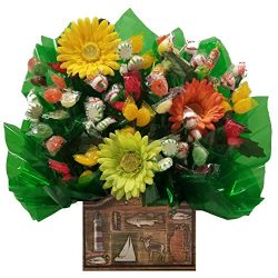 Outdoors Hard Candy Bouquet gift – Great as a Birthday, Thank You, Get Well Soon, New Baby ...
