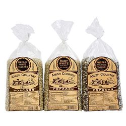 Amish Country Popcorn – 3 (2 Lb bag Variety Gift Set) Medium White, Baby White, Purple, &# ...