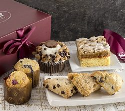 Gourmet Pastry Gift Basket of Foods-Includes Raspberry Crumb Cake. Rees's Cupcake, Muffins ...