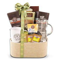 Coffee Bean and Tea Leaf Coffee Gift Basket with Coffee Press