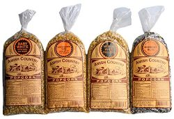 Amish Country Popcorn – 4 (1) Lb Variety Gift Set (Baby White, Medium White, Ladyfinger &a ...