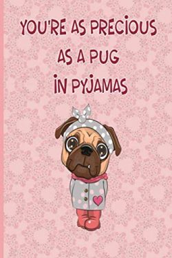 You'Re As Precious As A Pug In Pyjamas: Funny valentines day notebook/Funny  Pug Valentine ...