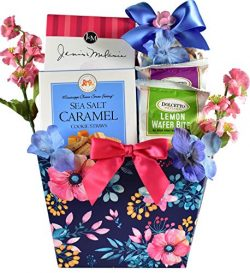 A Sweet Welcome!, Gourmet Gift Basket with Gourmet Cookies, Rolled Wafers and Gourmet Popcorn Mi ...
