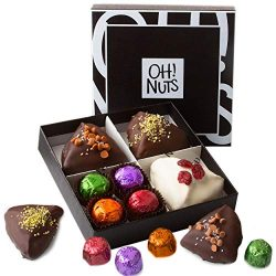 Oh! Nuts Gourmet Hamantachen Purim Gift Box | Seven-Piece Corporate Prime Basket of Individually ...