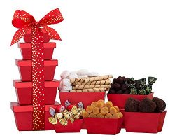 Gift Baskets by Wine Country Gift Baskets Gift Tower Truffles, Cookies & Chocolates Loaded W ...