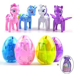 JOZON 4 Pack Large Unicorn Deformation Easter Eggs Toys for Kids Boys Girls Easter Basket Stuffe ...