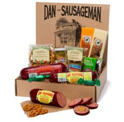 Dan the Sausageman's Sounder Gourmet Gift Box -Featuring Smoked Summer Sausage and Wiscons ...