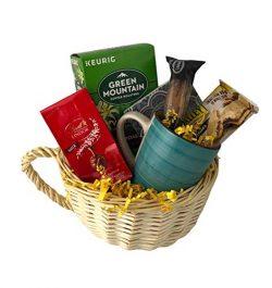 Gourmet Coffee Gift Basket Sampler Lindt Chocolate Biscotti Snack Mug Assortment