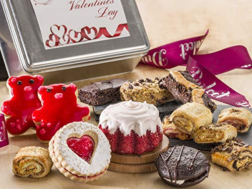 Dulcet Gift Baskets Valentines Day Tin Gift Box – Elegant Food Gift Box Gourmet I Love you ...