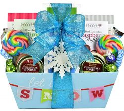 Winter Whimsy, Holiday Gift Basket with Whimsical Feel and Loads of Sweet Treats – Cookies ...