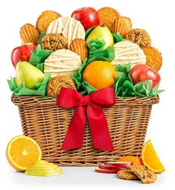 GiftTree Fruit and Gourmet Cookies Gift Basket | Premium Fresh Pears, Apples and Oranges with Fr ...