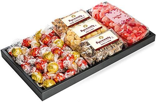Taboom Premium Gift Set, With Popinsanity Gourmet Popcorn, Lindt Chocolates & Heart Shaped J ...