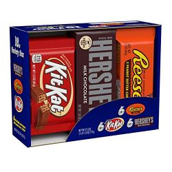HERSHEY'S Chocolate Candy Bar Assorted Variety Box (HERSHEY'S Milk Chocolate, KIT KA ...