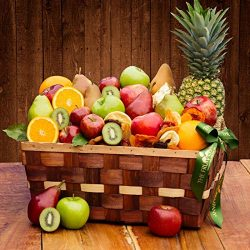 The Fruit Company- Festival of Fruit Basket – Assortment of 33 Pieces of Premium Fresh App ...