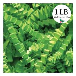 St. Patrick's Day 1 LB Quality Crinkle Cut Paper; Luck O' The Irish Lime Green, Teschco