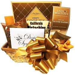 Golden Memories Comforting Sympathy Gift Basket