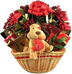 Luv Ya! – Deluxe Romantic Gift Basket Overflowing with Gourmet Specialty Chocolates, Candi ...