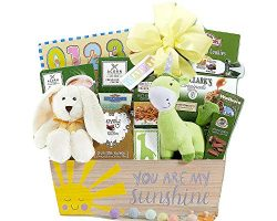 Wine Country Gift Baskets Baby Gift Basket Of Joy Chocolate and Toys Gift Basket Plush Animals f ...