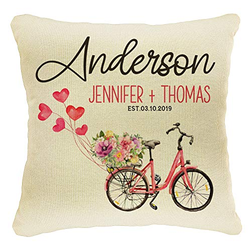 Naive Argo Home Decor Personalized Printed Throw Pillow Case 18X18 | Couples Love Cover | Custom ...