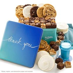 Mrs. Fields Cookies Thank You Combo Tin (54 Count) Includes 36 Brownie Bites, 12 Original Cookie ...