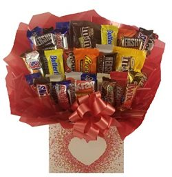 Chocolate Candy Bouquet gift box – Great as gift for Birthday, Thank You, Get Well Soon, C ...