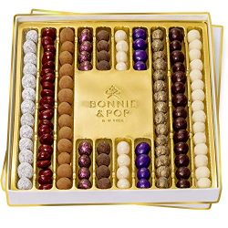 Truffle Chocolates Gourmet Gift Basket, Rows of Delightful Truffles in Gift Tray for Valentine&# ...