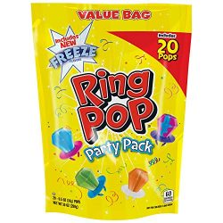 Ring Pop Individually Wrapped Variety Party Pack – 20 Count Candy Lollipop Suckers w/ Asso ...