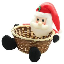 JuguHoovi Christmas Candy Storage Basket Christmas Party Gift Holder Xmas Storage Basket Fruits  ...