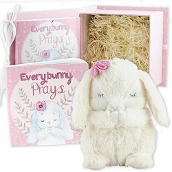 Everybunny Prays- Baby and Toddler Gift Set with Praying Musical Bunny and Prayer Book in Keepsa ...