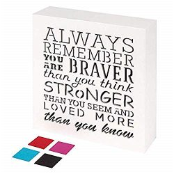 KAUZA Always Remember You are Braver Than You Think – Inspirational Gifts Positive Wall Pl ...