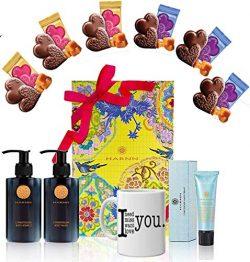 Valentines Day Gift Basket – Valentine's Gift Mugs, Heart Chocolate Mix, Harnn Body  ...