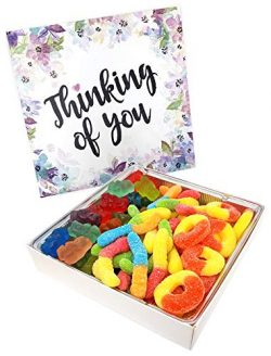 Happy Bites Thinking of You Gummi Candy Gift Box with Gummi Bears, Sour Neon Gummi Worms, &  ...