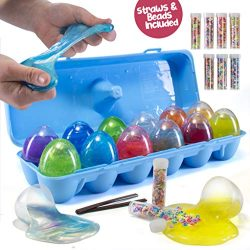 Prextex 12 Slime Filled Easter Eggs for Easter Hunts, Stress Relief and Party Favors – 12  ...