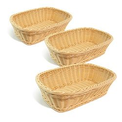 Colorbasket Rectangular Basket – Natural Color, Set of 3