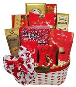 Delight Expressions Heart To Heart Valentine's Day Gift Basket – For Her – For Him