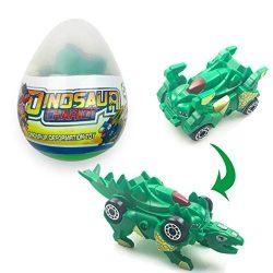 Jofan Dinosaur Deformation Car Toy in Easter Eggs with Take Apart Toy Inside for Kids Boys Girls ...