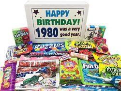 Woodstock Candy 1980 40th Birthday Ideas – Retro Decade 80s Candy Gag Gift Basket Box Asso ...