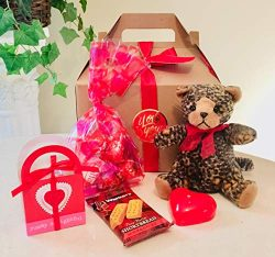Sweet & Cute Baby Leopard Valentine's Day Gourmet Gift Basket/Box: Lindt Chocolate, Or ...