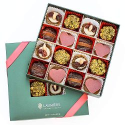 Valentine Collection – Square Box (16 Pieces) – Valentine's Day Gift Basket &# ...