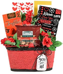 Heart To Heart, Romantic Gift Basket Loaded with Specialty Sweets for Men or Women