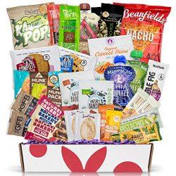 Deluxe Vegan Protein Snacks Box: Mix of Healthy Vegan Protein Bars, Cookies, Vegan Jerky, Chips  ...