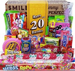 VINTAGE CANDY CO. 20TH BIRTHDAY RETRO CANDY GIFT BOX – 2000 Decade Childhood Nostalgia Can ...