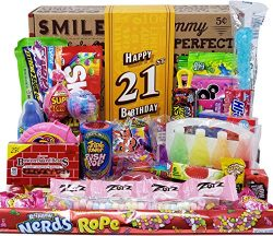 VINTAGE CANDY CO. 21ST BIRTHDAY RETRO CANDY GIFT BOX – 1999 Decade Childhood Nostalgia Can ...