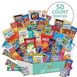 Variety Snack Care Package (50 Count) Gift Box for College Student – Cookies, Chips, Candi ...
