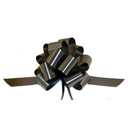 Black Decorative Gift Pull Bows – 5″ Wide, Set of 10, Halloween, Gift Basket, Christ ...