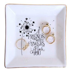 PUDDING CABIN Bestie Gift Going Away Gift Jewelry Dish – If Friends were Flowers I'd ...