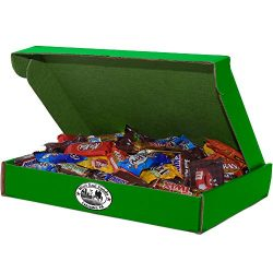 5 lbs Assorted Milk Chocolate Candy, 13x10x2 Green Box