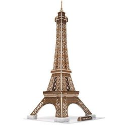 CubicFun Eiffel Tower 3D Puzzles Paris Architecture Model Building Kits Decor for Adults and Kid ...