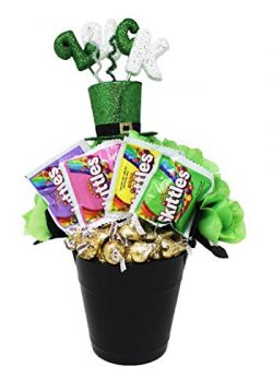St. Patrick's Day Pot-O-Gold Gift Basket with an Assortment of Candy